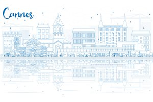Outline Cannes Skyline