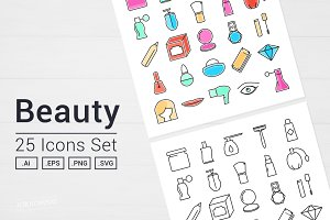 Beauty Icons Set