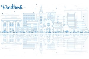 Outline Windhoek Skyline