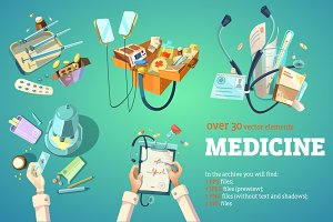 Medical Cartoon Set