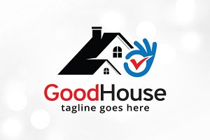 Check House Logo Template Design