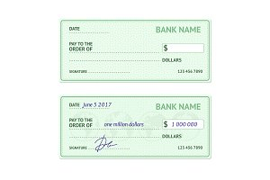 Template Blank Bank Check.