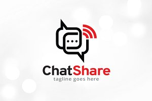 Chat Share Logo Template Design