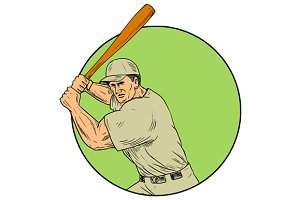 Baseball Player Batting Stance