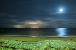 night landscape of Lanzarote
