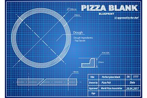 Perfect Pizza Blank blueprint scheme