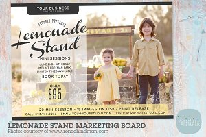 IA003 Lemonade Stand Marketing Board