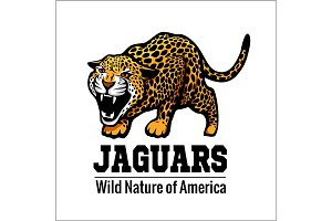jaguar logo icon vector character illustration