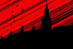 black birds over the Kremlin