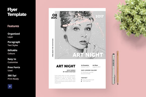 art and fashion flyer template flyer templates creative market