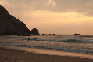 Sunset in Algarve Castelejo beach