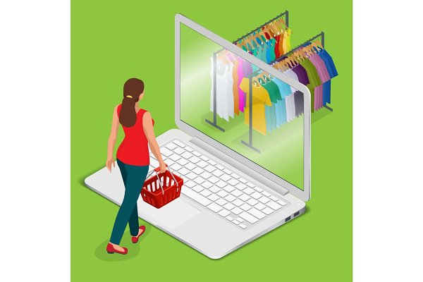 E-commerce, pay on-line and on-line…