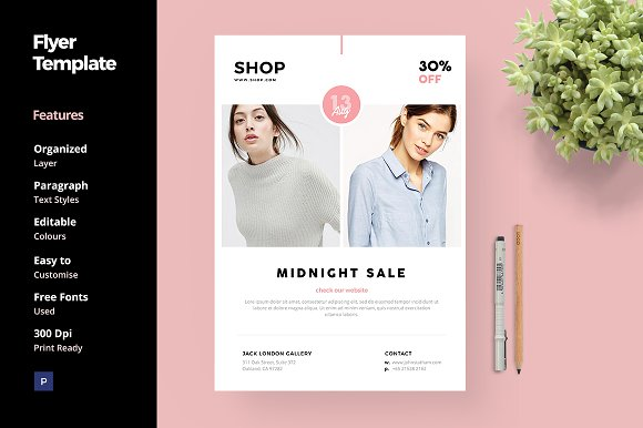 fashion and clothing flyer template flyer templates creative market