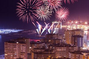 Fireworks above Malaga