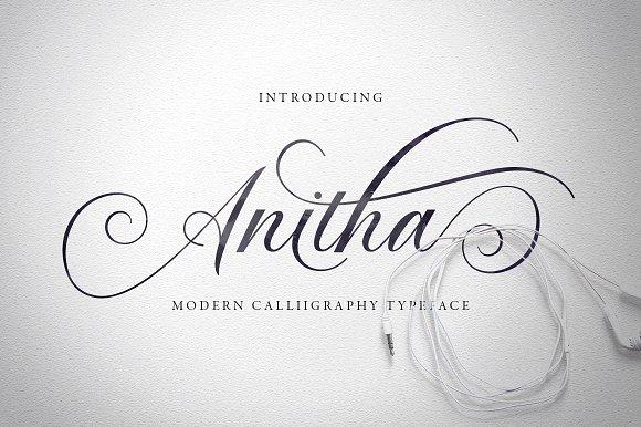 Anitha Script Fonts Creative Market