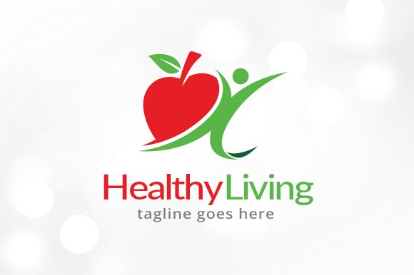 Healthy Living Logo Template Design