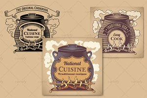 Traditional cuisine labels (3x)