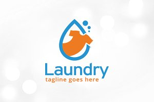 Laundry Logo Template Design