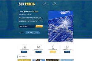 Sun Panels PSD Template