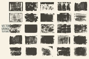 Set of vector grunge textures.
