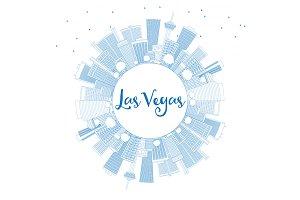 Outline Las Vegas Skyline