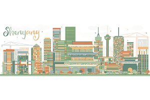 Abstract Shenyang Skyline