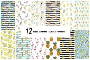 Summer seamless patterns 2017