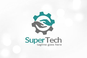 Letter S Technology Logo Template