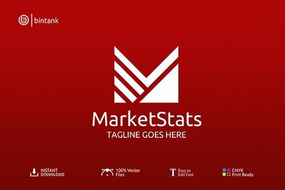 Market Stats Letter M Logo