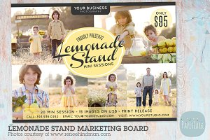 IA001 Lemonade Stand Marketing Board