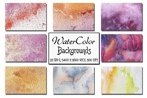 22 Watercolor Backgrounds. Vol 1.