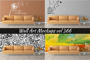 Wall Mockup - Sticker Mockup Vol 366