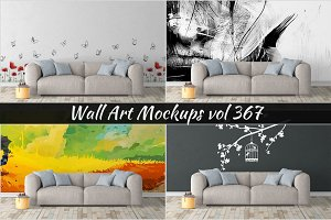 Wall Mockup - Sticker Mockup Vol 367