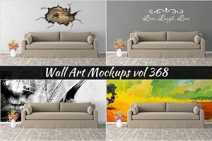 Wall Mockup - Sticker Mockup Vol 368