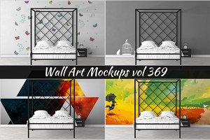 Wall Mockup - Sticker Mockup Vol 369