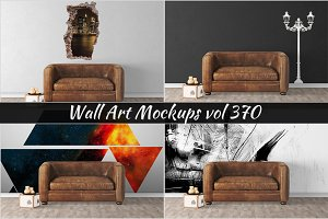 Wall Mockup - Sticker Mockup Vol 370