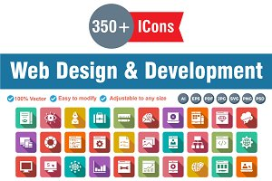 Web Design Development Square Round