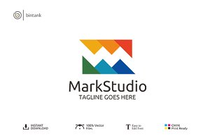 Mark Studio - Letter M Logo