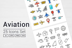 Aviation Icons Set