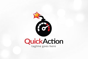 Quick Action Logo Template Design