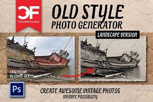 Old style photo generator(landscape)