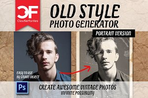 Old style photo generator (Portrait)