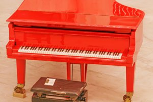 Red big piano