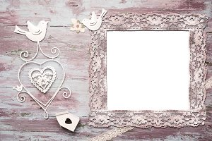 Mock up of romantic invitation