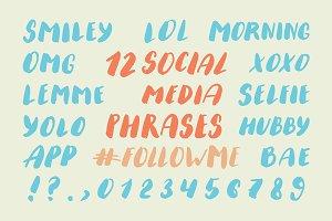 Social Media Phrases Set