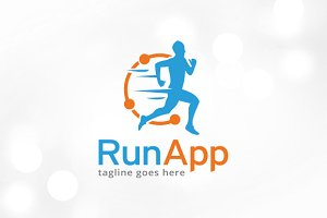 Run App Logo Template Design