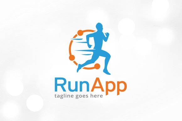 run app logo template design logo templates creative market