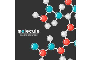 Background with molecular structure. Abstract molecules in flat style