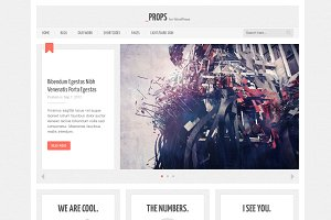 Props, a Responsive WordPress Theme