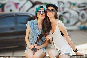Two street girls